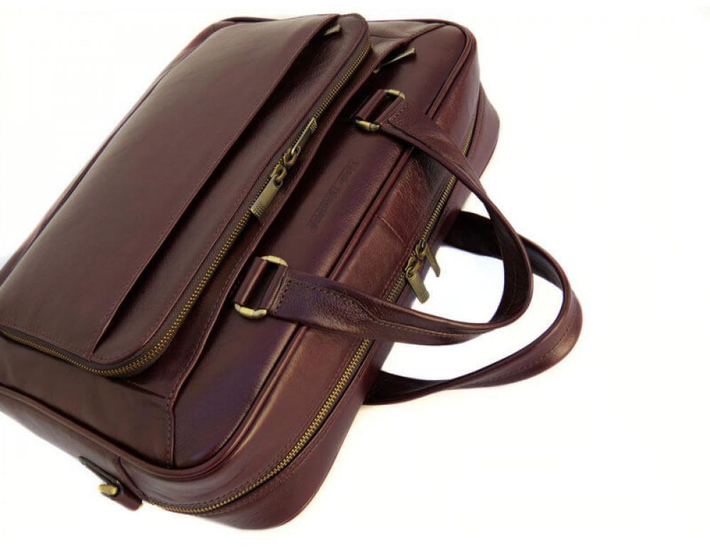 Чоловіча шкіряна сумка Black Diamond BD18C коричнева - Фотографія № 6