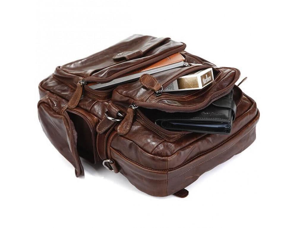 Шкіряний рюкзак TIDING BAG 7042Q - Фотографія № 5