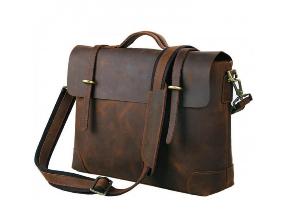 Чоловічий шкіряний портфель TIDING BAG 7082R