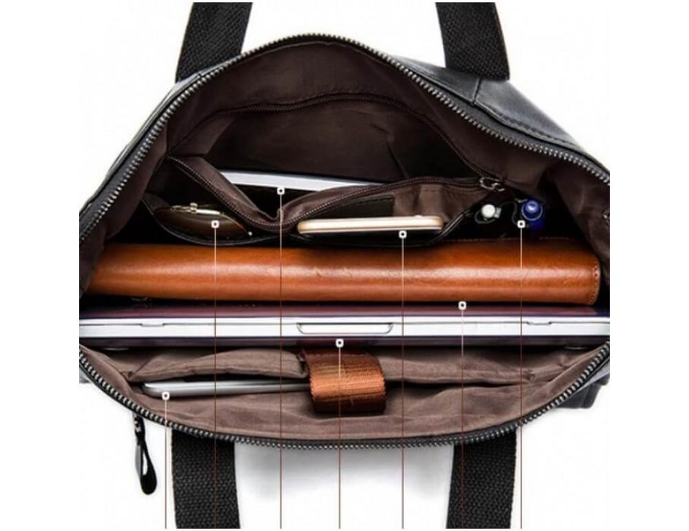 Кожаная сумка для ноутбука JASPER & MAINE 7120A-1 - Фото № 7