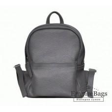 Женский кожаный рюкзак CARBON DARK GREY