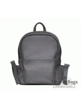 Жіночий шкіряний рюкзак CARBON DARK GREY