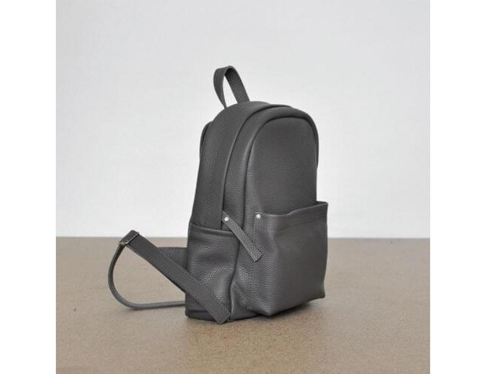 Женский кожаный рюкзак CARBON DARK GREY - Фото № 2