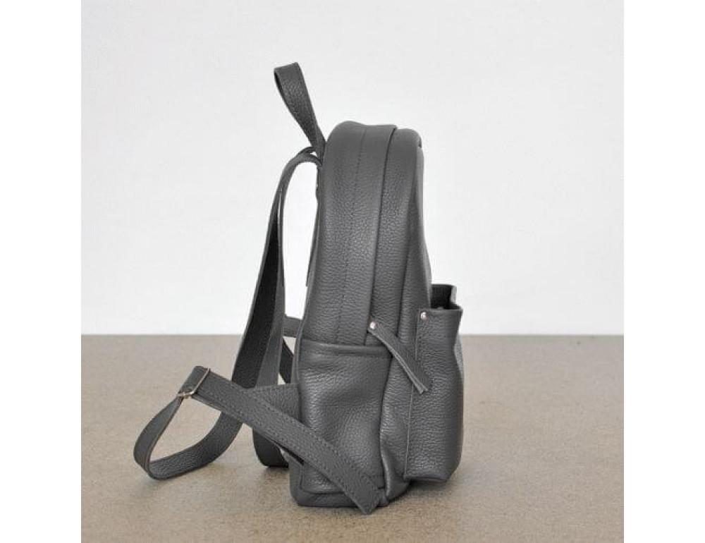Женский кожаный рюкзак CARBON DARK GREY - Фото № 3