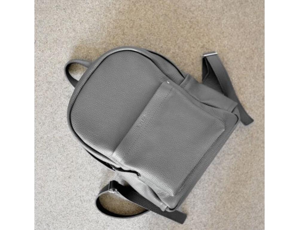 Женский кожаный рюкзак CARBON DARK GREY - Фото № 5