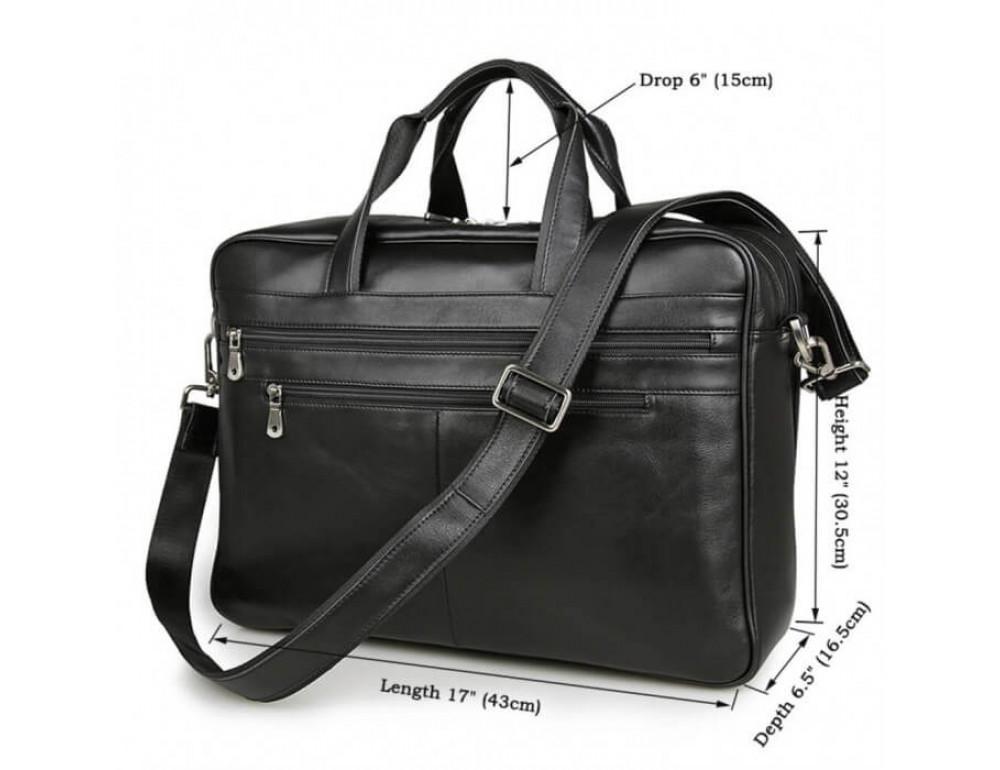 Кожаная сумка JASPER-MAINE 7319A - Фото № 10