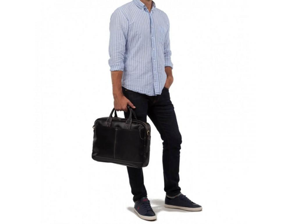 Мужская кожаная сумка TIDING BAG T1019A - Фото № 3