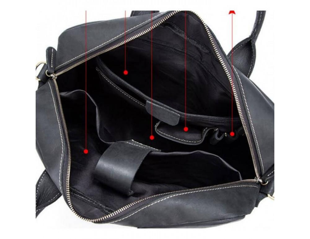 Мужская кожаная сумка TIDING BAG T1019A - Фото № 4