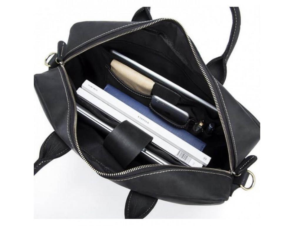 Мужская кожаная сумка TIDING BAG T1019A - Фото № 5