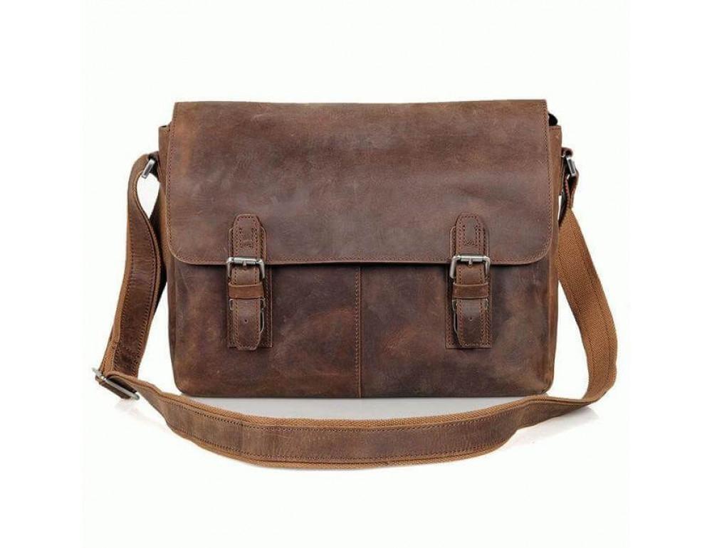Кожаная сумка через плечо TIDING BAG 6002LR-2 - Фото № 2