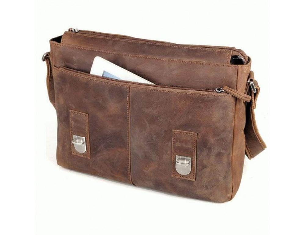 Кожаная сумка через плечо TIDING BAG 6002LR-2 - Фото № 5