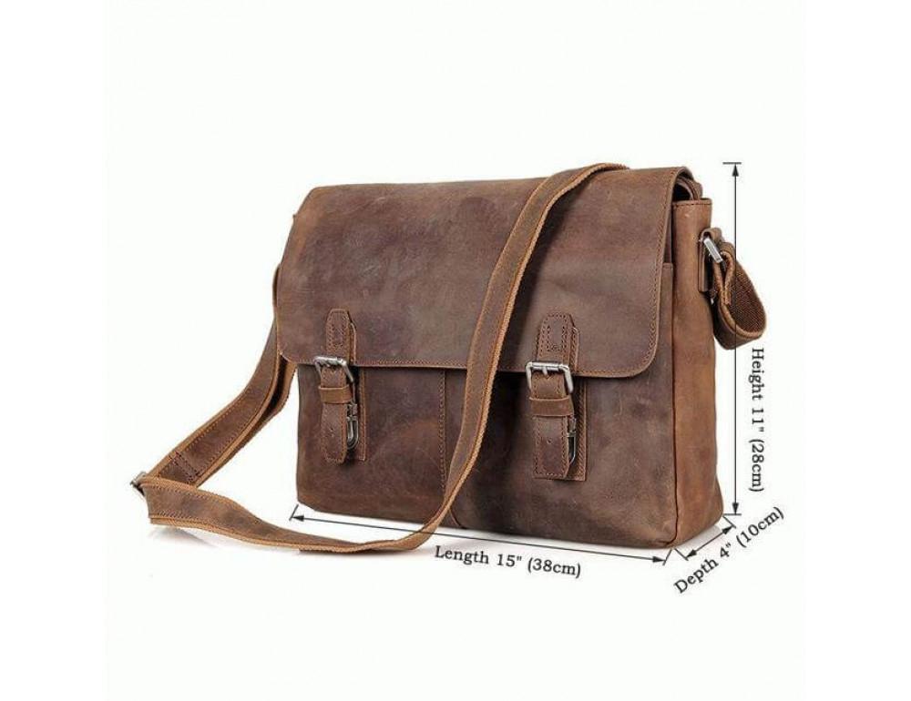 Кожаная сумка через плечо TIDING BAG 6002LR-2 - Фото № 8