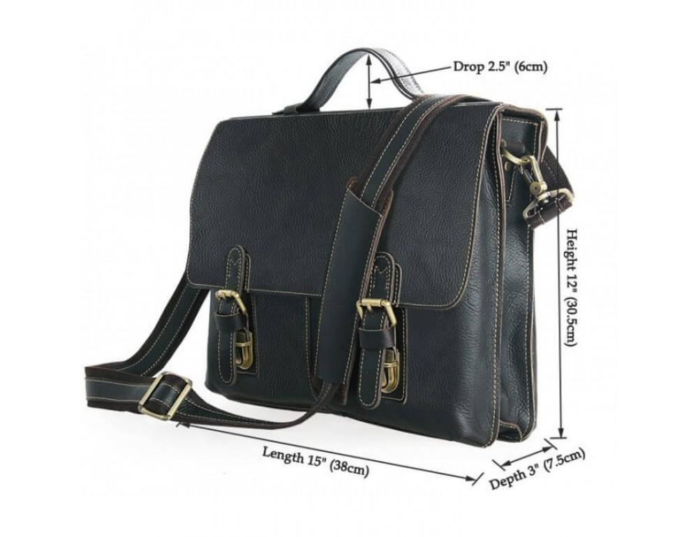 Мужской кожаный портфель TIDING BAG 7090A - Фото № 3