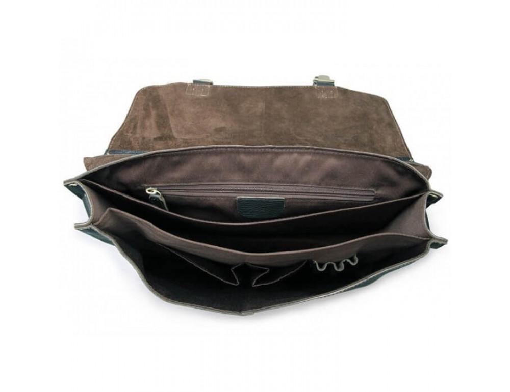 Мужской кожаный портфель TIDING BAG 7090A - Фото № 5