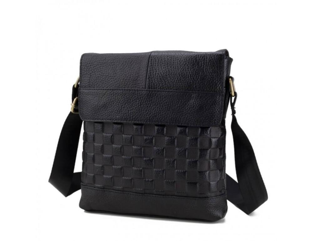 Мужская кожаная сумка через плечо TIDING BAG A25-1222-2A - Фото № 2