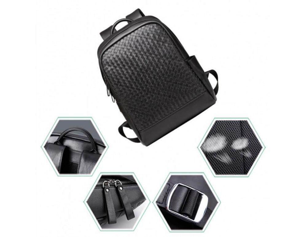 Стильный городской рюкзак TIDING BAG B3-1741A черный - Фото № 6