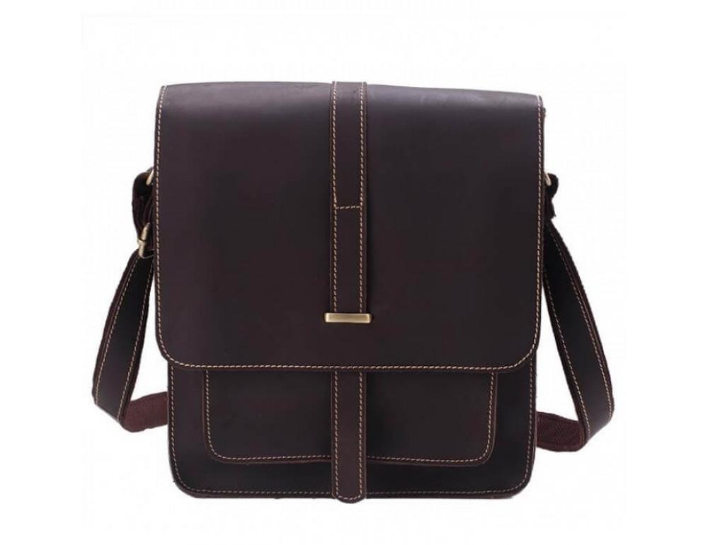Мужская кожаная сумка через плечо TIDING BAG G2093-1B - Фото № 2