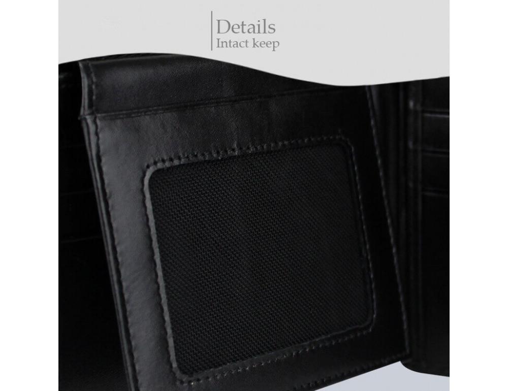 Кошелёк из кожи ската Sarlisi SR-0035 чёрный  - Фото № 8