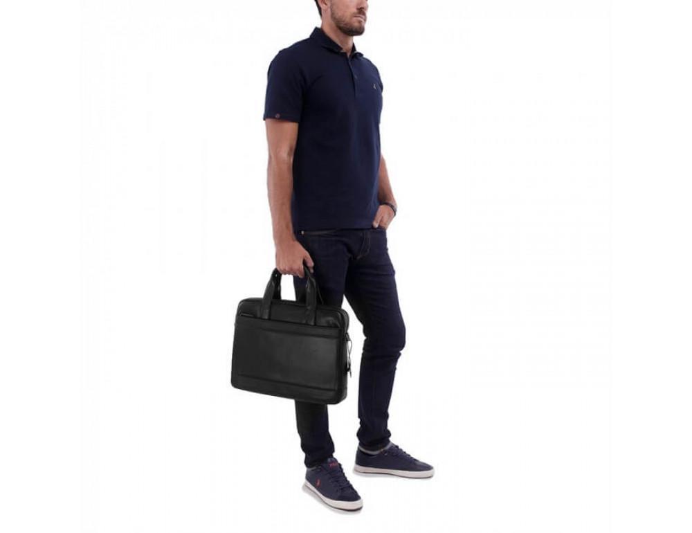 Мужская кожаная сумка под макбук TIDING BAG M47-1609A - Фото № 5