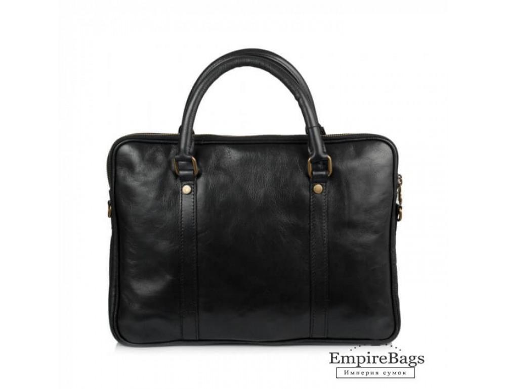 Мужская кожаная сумка Virginia Conti VCM0502BLACK - Фото № 3