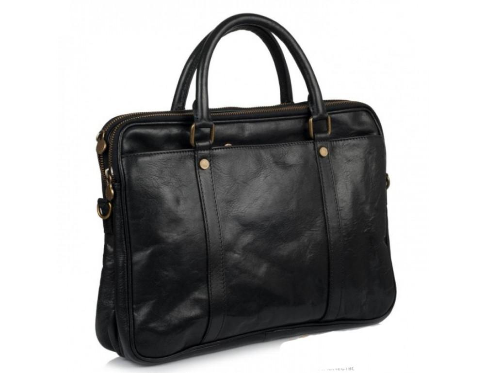 Мужская кожаная сумка Virginia Conti VCM0502BLACK - Фото № 4