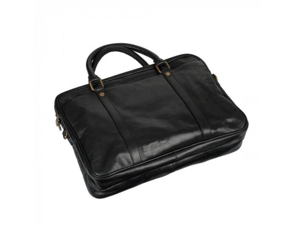 Мужская кожаная сумка Virginia Conti VCM0502BLACK - Фото № 5