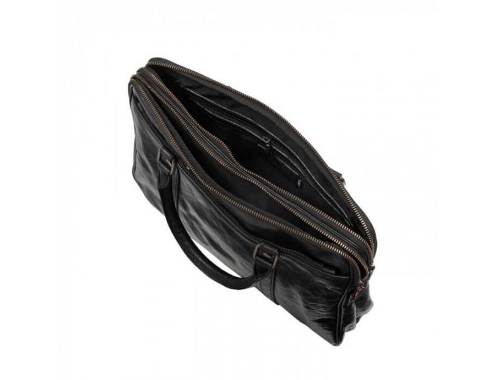 Мужская кожаная сумка Virginia Conti VCM0502BLACK - Фото № 6