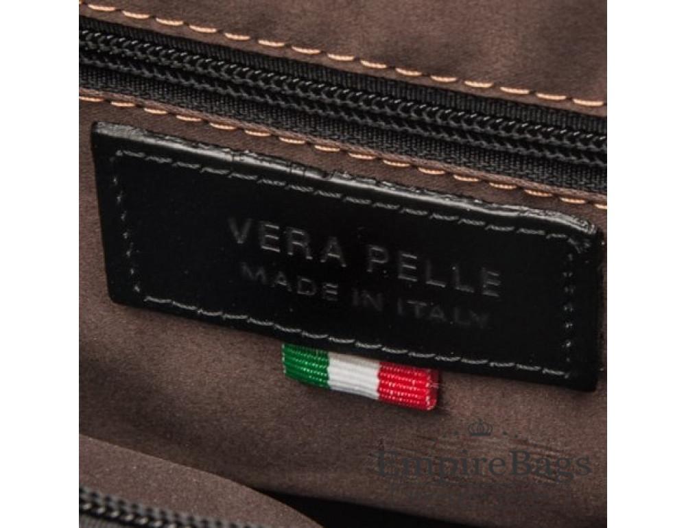 Мужская кожаная сумка Virginia Conti VCM0502BLACK - Фото № 7