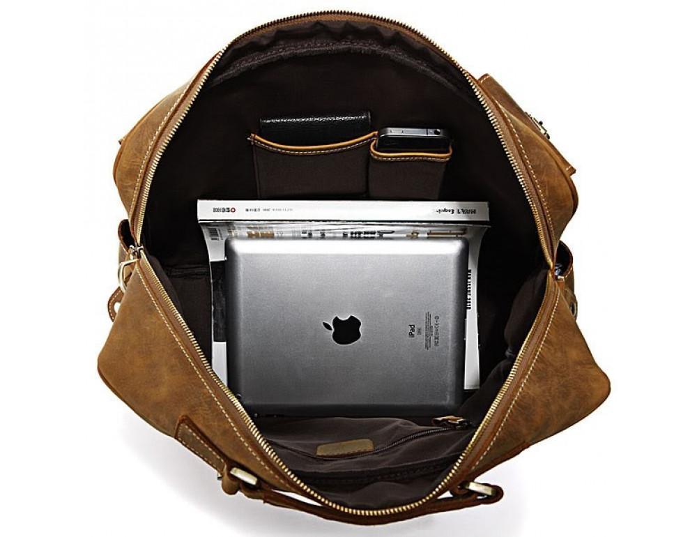 Мужская сумка TIDING BAG 7028B коричневая - Фото № 4