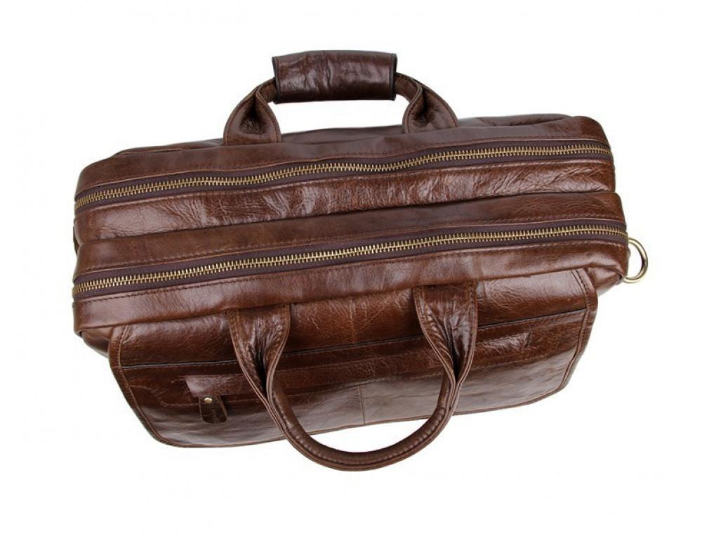 Кожаная сумка через плечо TIDING BAG 7085C - Фото № 7