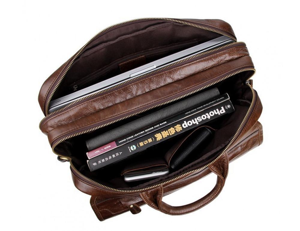 Кожаная сумка через плечо TIDING BAG 7085C - Фото № 5