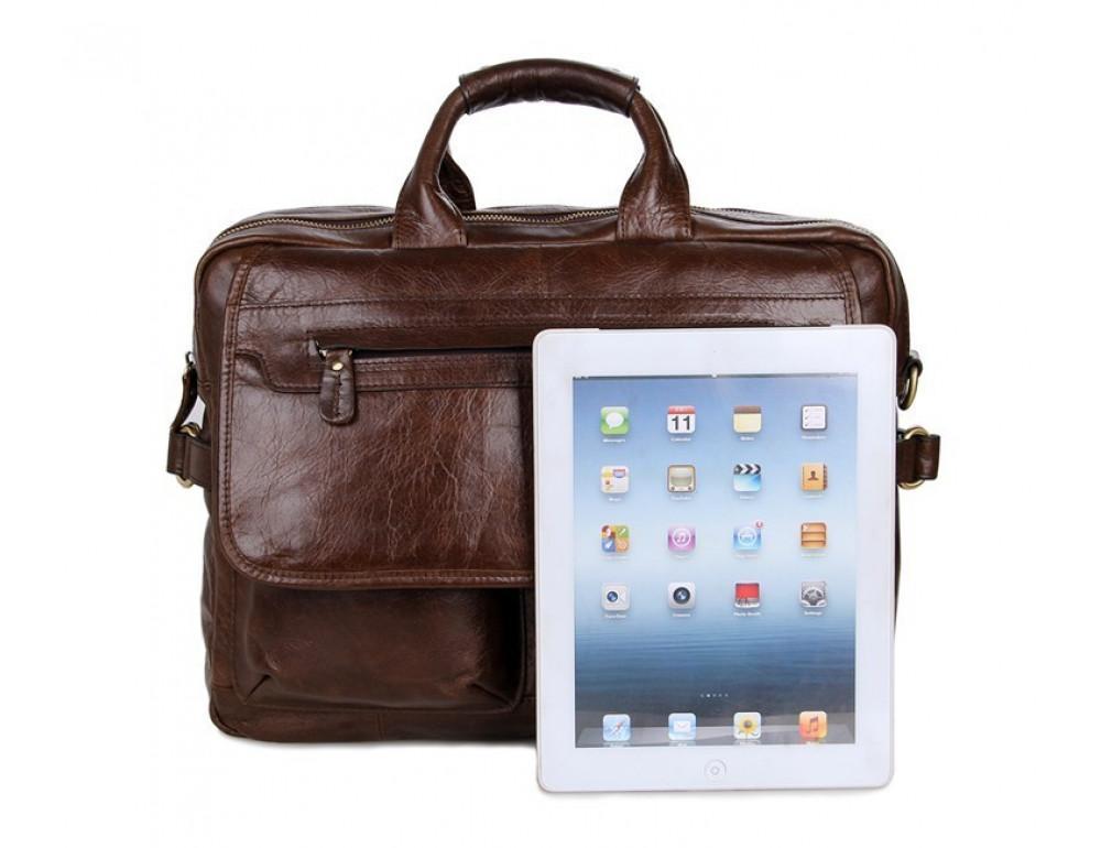 Кожаная сумка через плечо TIDING BAG 7085C - Фото № 2