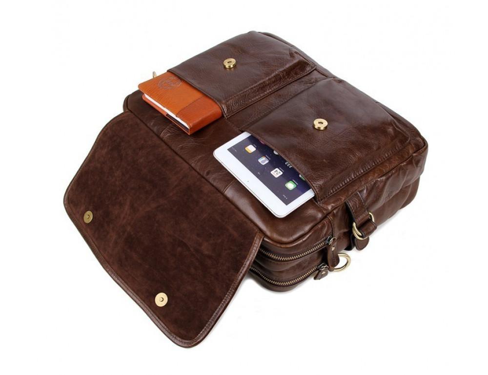 Кожаная сумка через плечо TIDING BAG 7085C - Фото № 4