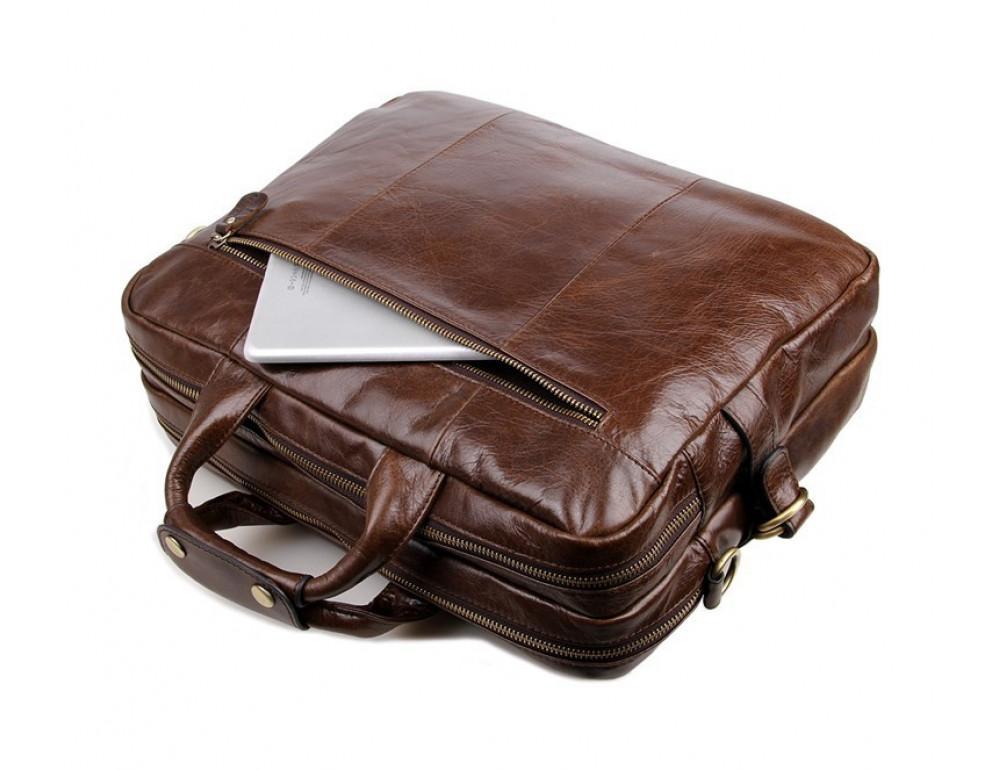Кожаная сумка через плечо TIDING BAG 7085C - Фото № 8