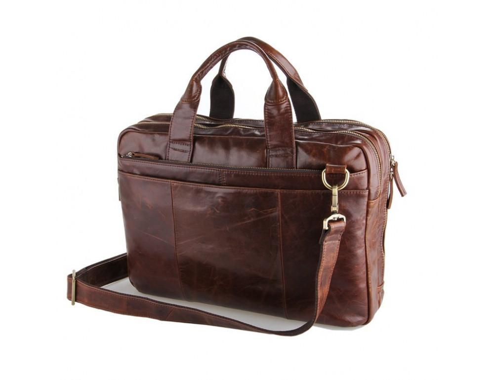 Кожаная сумка через плечо TIDING BAG 7092-2C - Фото № 5