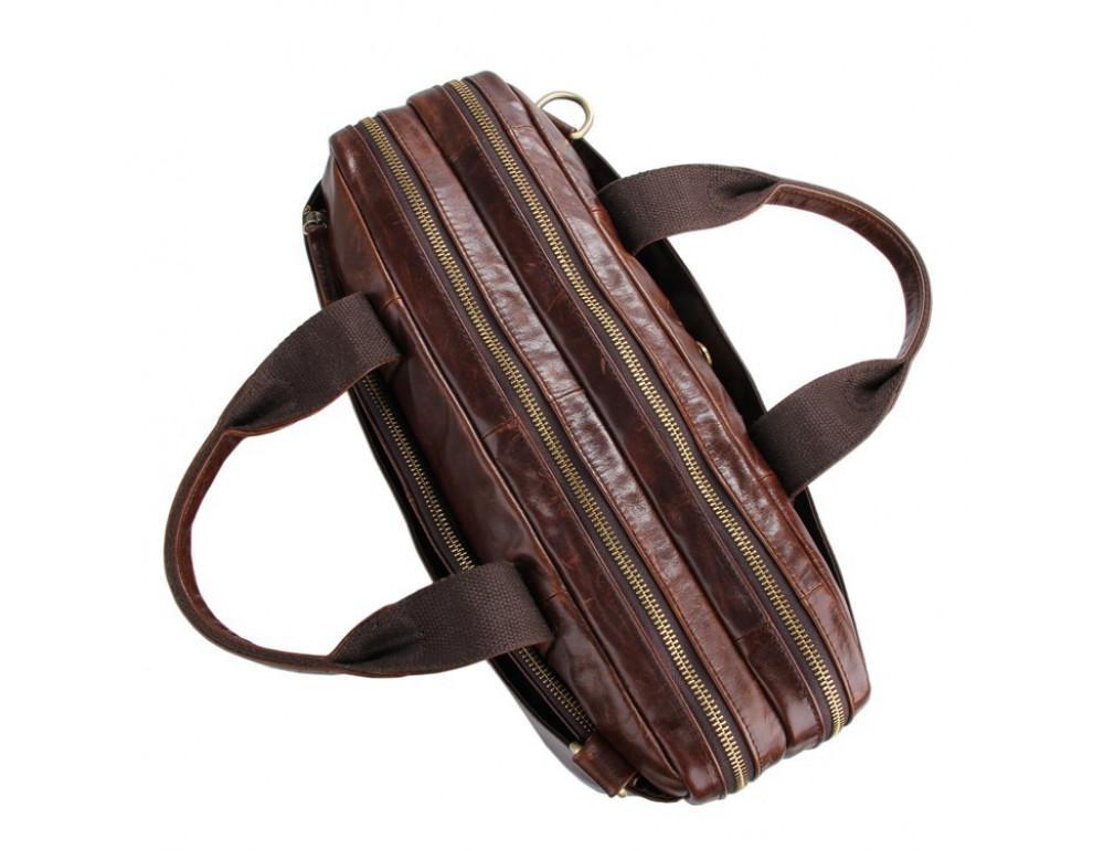 Кожаная сумка через плечо TIDING BAG 7092-2C - Фото № 6