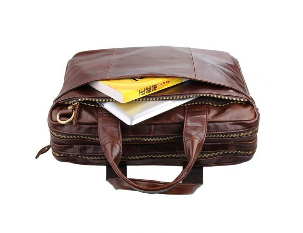 Кожаная сумка через плечо TIDING BAG 7092-2C - Фото № 8