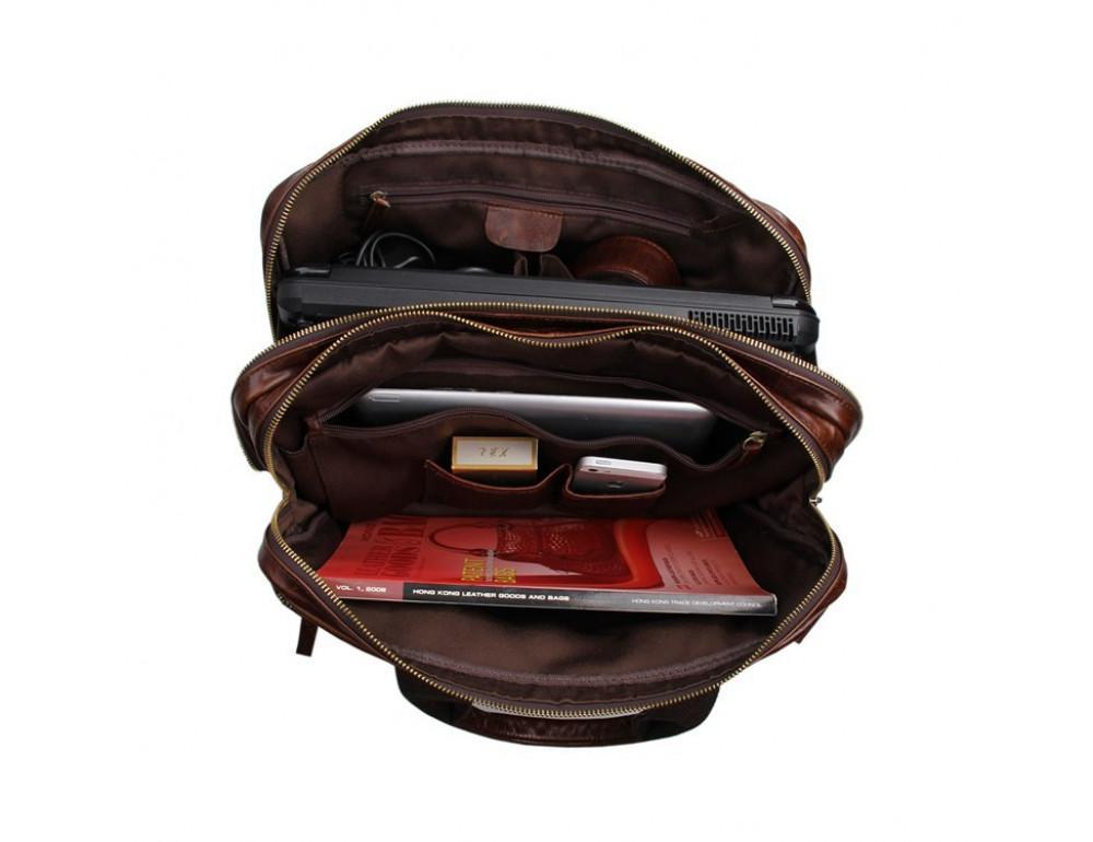 Кожаная сумка через плечо TIDING BAG 7092-2C - Фото № 9