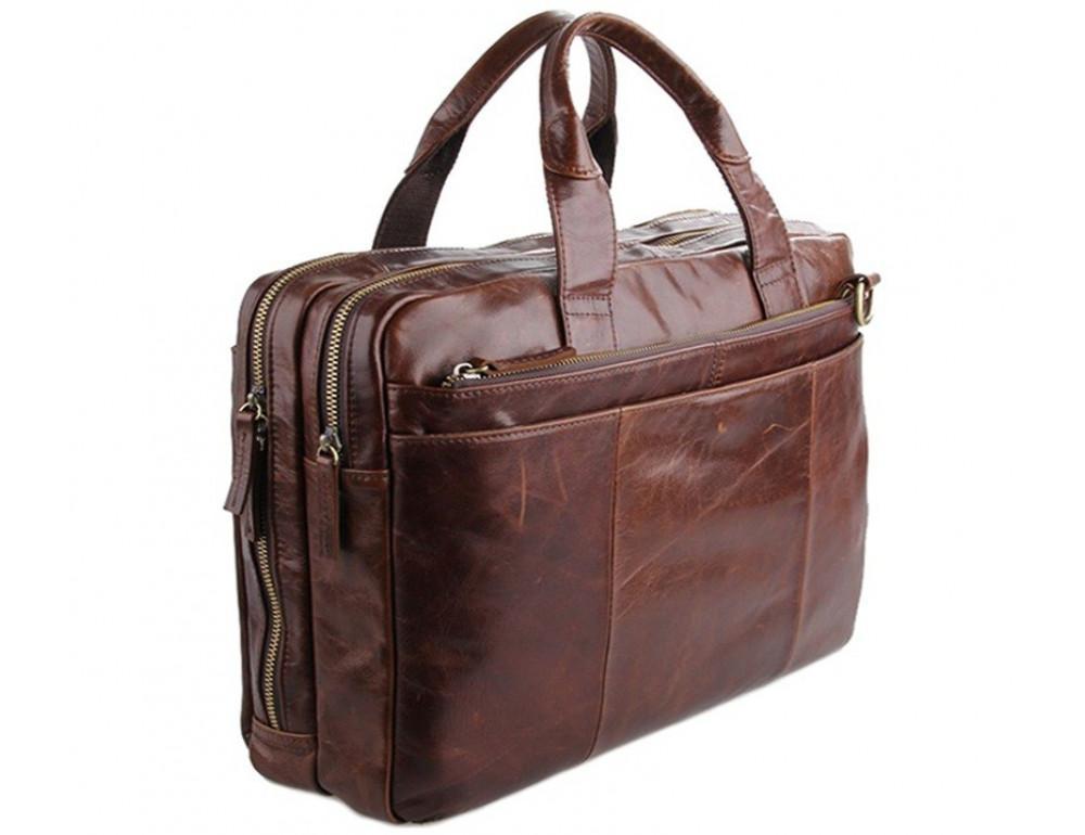 Кожаная сумка через плечо TIDING BAG 7092-2C - Фото № 4
