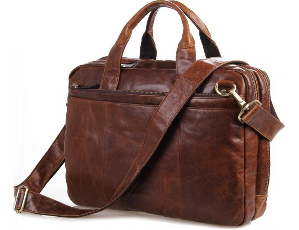 Кожаная сумка через плечо TIDING BAG 7092-2C - Фото № 3