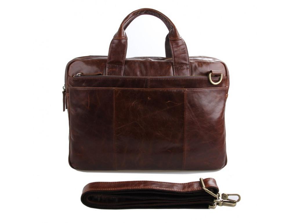 Кожаная сумка через плечо TIDING BAG 7092-2C - Фото № 2