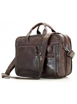 Кожаная сумка через плечо TIDING BAG 7093C