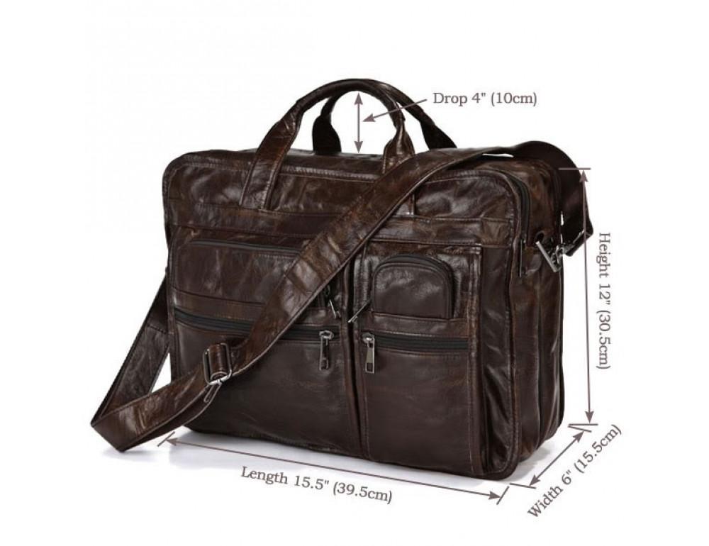 Кожаная сумка через плечо JASPER & MAINE 7093Q - Фото № 8