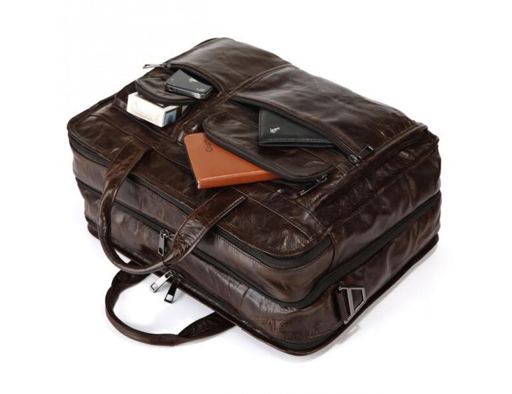 Кожаная сумка через плечо JASPER & MAINE 7093Q - Фото № 2