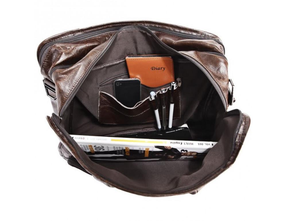 Кожаная сумка через плечо JASPER & MAINE 7093Q - Фото № 5