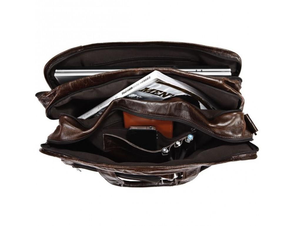 Кожаная сумка через плечо JASPER & MAINE 7093Q - Фото № 4