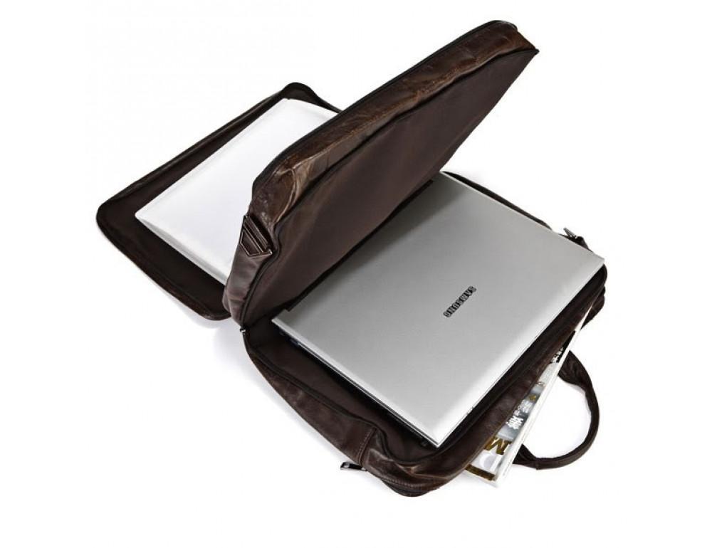 Кожаная сумка через плечо JASPER & MAINE 7093Q - Фото № 3