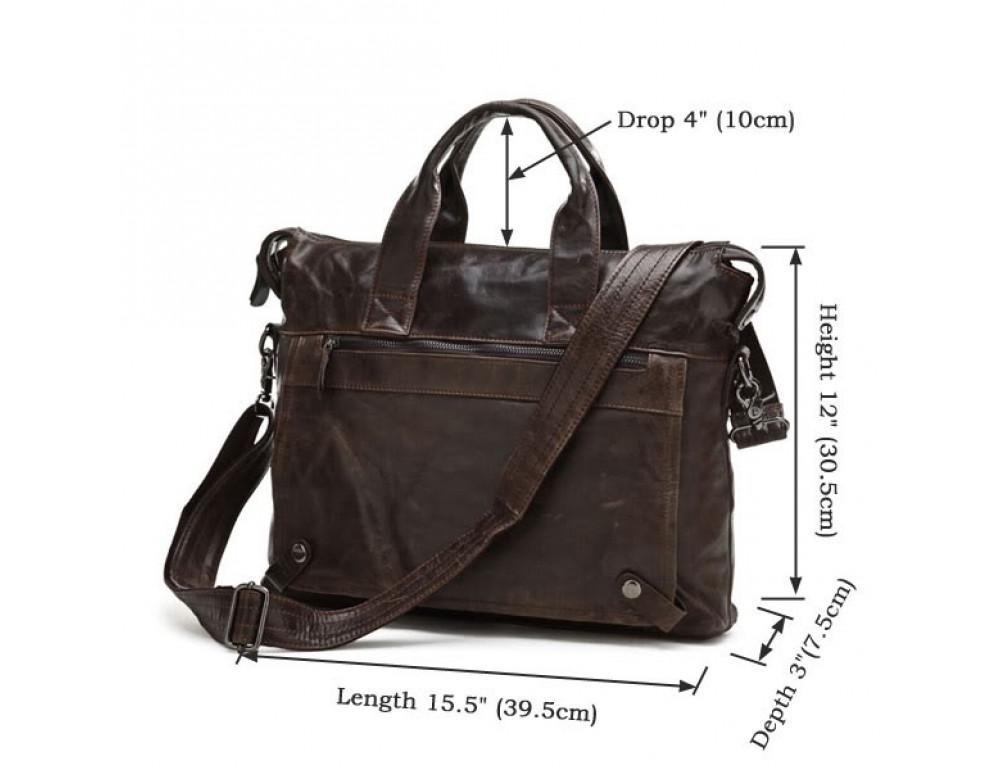 Кожаная сумка для ноутбука JASPER & MAINE 7120C - Фото № 4
