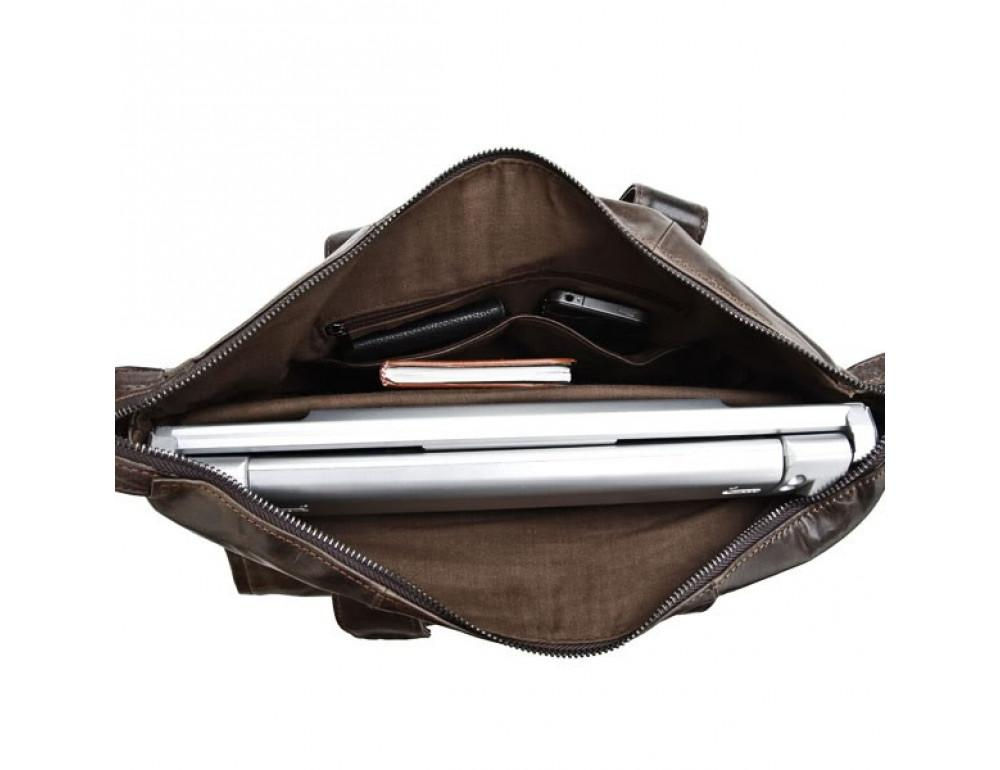 Кожаная сумка для ноутбука JASPER & MAINE 7120C - Фото № 6