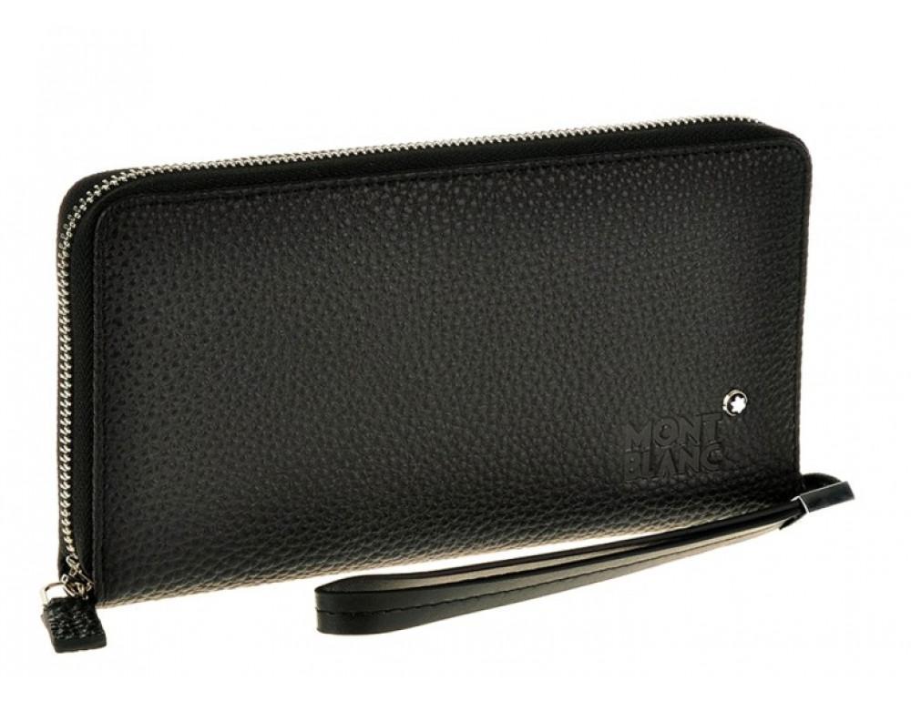 Черный кожаный клатч Montblanc MB5190